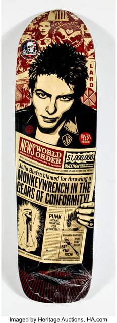 Shepard Fairey (OBEY), 'Jello Biafra', 2013, Heritage Auctions