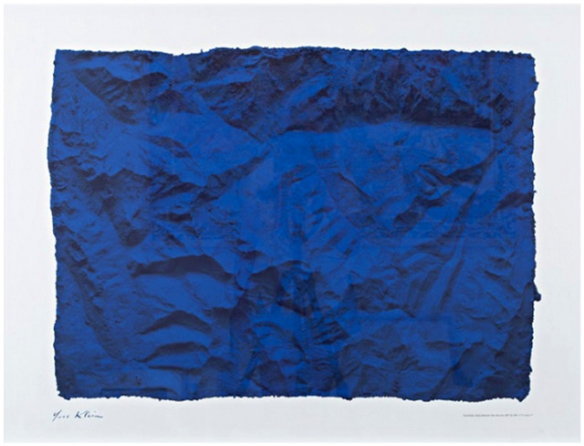 Yves Klein, 'Untitled Blue Planetary Relief (RP6), 1961 (Certified by Yves Klein Archives)', 2015, Alpha 137 Gallery