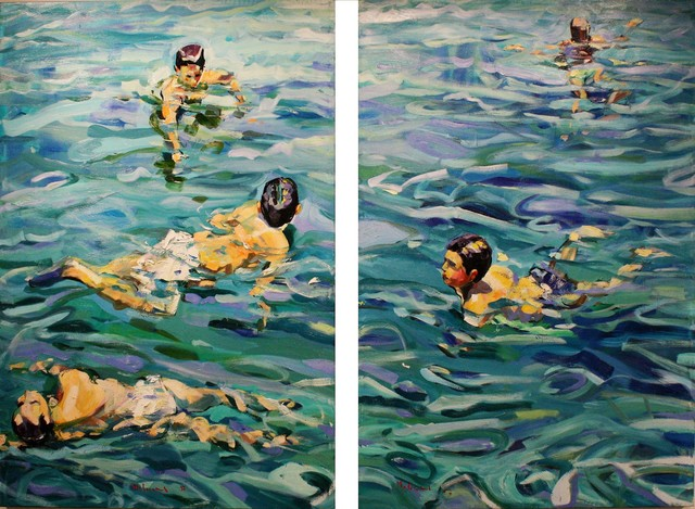 , 'Nuotatori,' , Marta Hewett Gallery