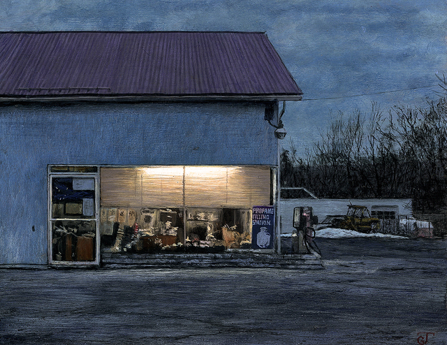, 'Fuel Station,' 2017, William Baczek Fine Arts