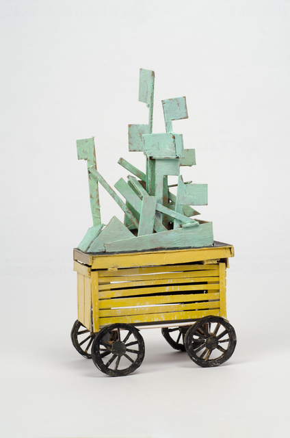 , 'Untitled (yellow cart with green construction),' 2014, Fleisher/Ollman