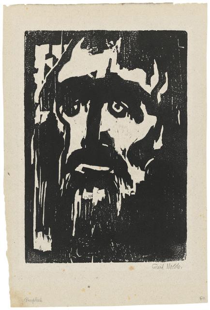 Emil Nolde, 'Prophet', 1912, Print, Woodcut on oatmeal laid paper, Christie's