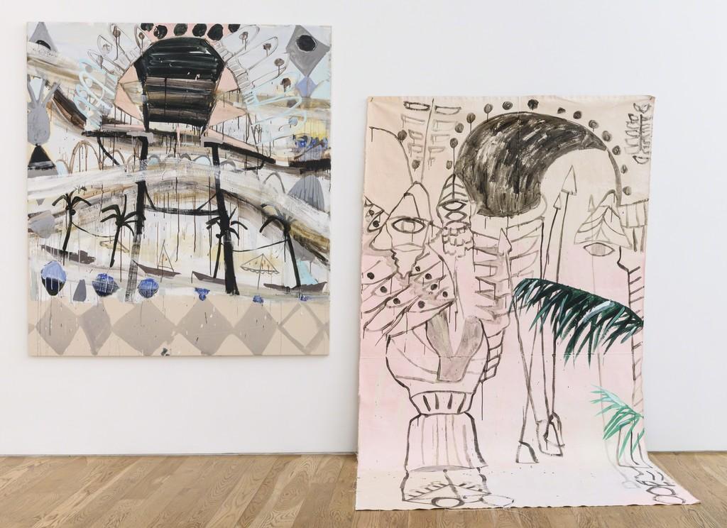 "Installation view Mie Olise Kjærgaard, ""Bastard Monuments,"" 2016"