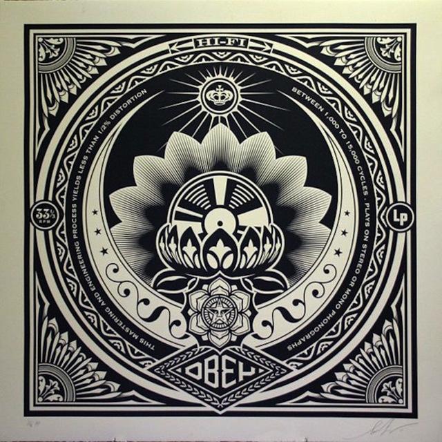 Shepard Fairey (OBEY), 'Lotus Album, Large Format ', 2011, Gregg Shienbaum Fine Art