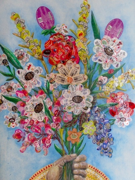 Luisa Caldwell, 'Fistful of Flowers', 2017, Bronx Museum: Benefit Auction 2018