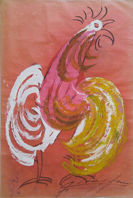 , 'Rainbow Rooster in Salmon,' 1970-1979, ArtLabbé Gallery