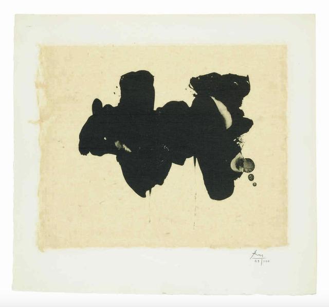 Robert Motherwell, 'Alberti Elegy', 1982, Print, Lithograph and chine appliqué, Upsilon Gallery