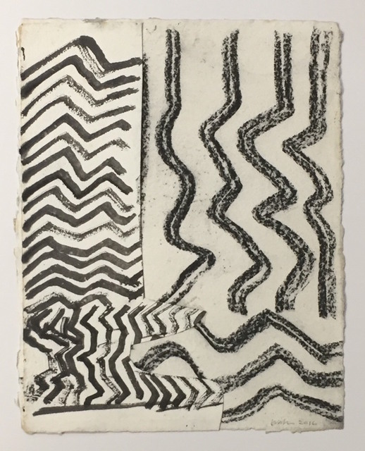 John Walker (b.1939), 'Looking Out to Sea I', 2016, Drawing, Collage or other Work on Paper, Mixed media on paper, New York Studio School