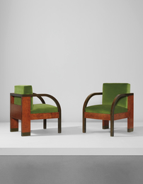 Gino Levi Montalcini, 'Pair of armchairs, from the Palazzo Gualino, Turin,' ca. 1928, Phillips: Design