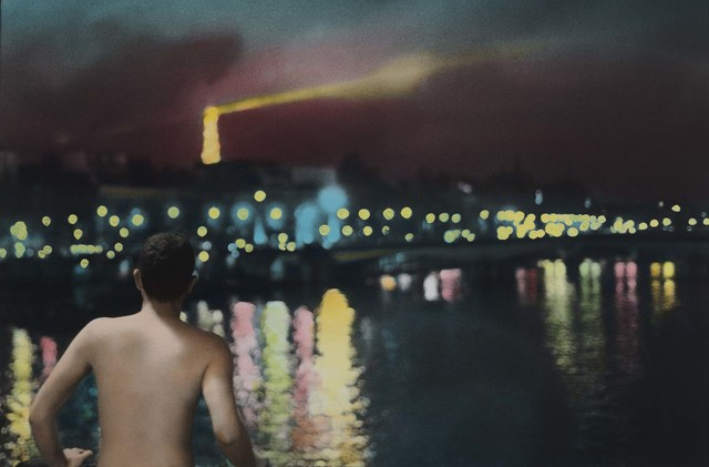 Youssef Nabil, 'Self portrait at night, Paris', 2010, Repetto Gallery
