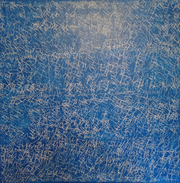, 'Blue Scribble Scrabble,' 1991, Massey Klein Gallery