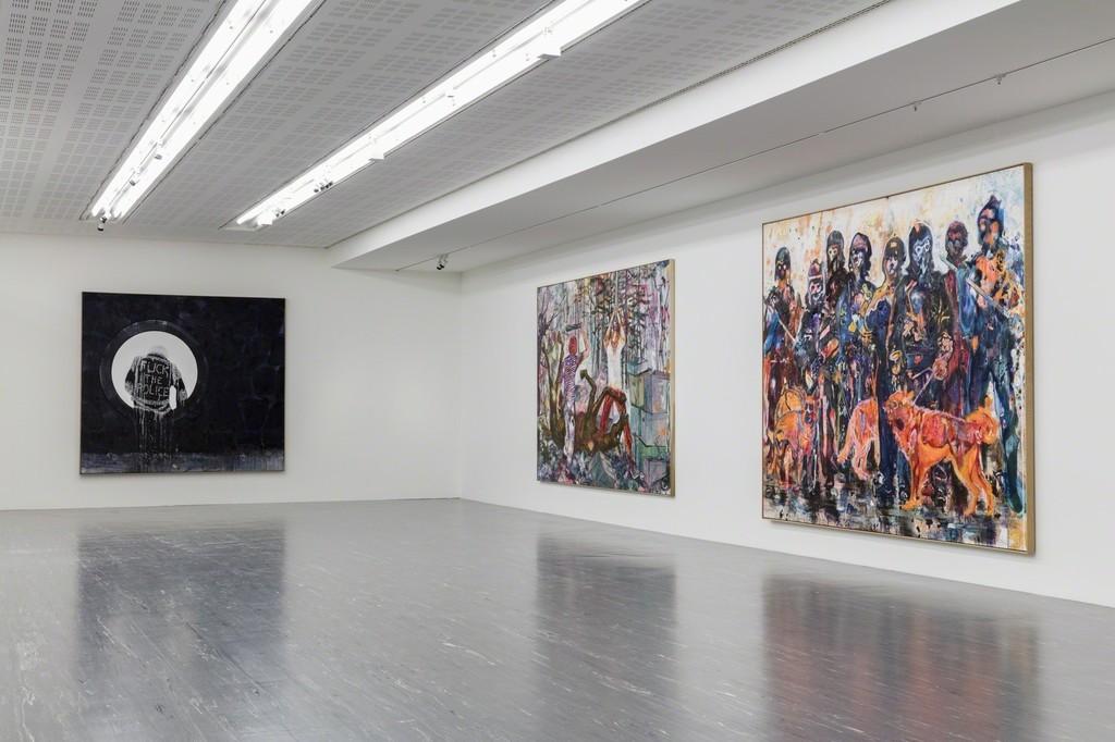 Exhibition View Daniel Richter – Lonely Old Slogans, Photo: © Belvedere, Vienna, 2017
