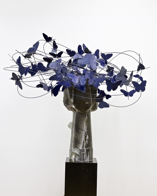 , 'Cabeza con Mariposas Azules,' 2019, Opera Gallery