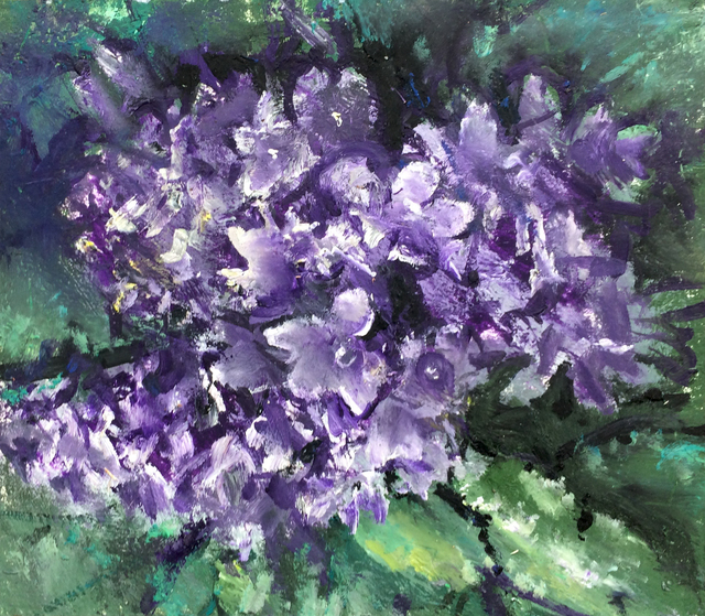, 'Purple flowers (Campanula),' 2017, Robert Kananaj Gallery