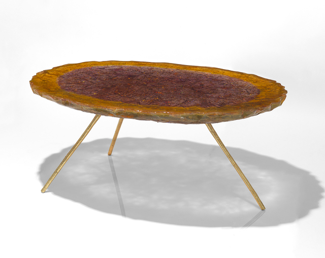 Helene de Saint Lager, 'Table Orangee Et Violette', 2018, 18 Davies Gallery