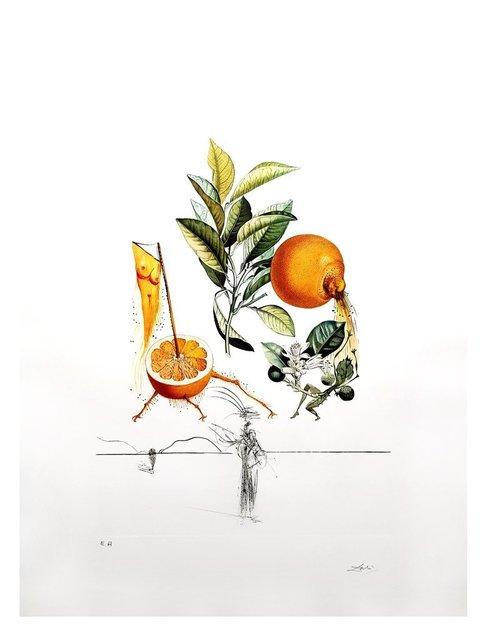 "Salvador Dalí, 'Original Lithograph ""Flordali - Erotic Orange"" by Salvador Dali', 1969, Galerie Philia"