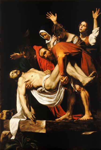 Michelangelo Merisi da Caravaggio, 'Entombment', 1603-04, Art History 101