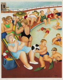 Beryl Cook, 'The Bathing Pool,' 1992, Forum Auctions: Editions and Works on Paper (March 2017)