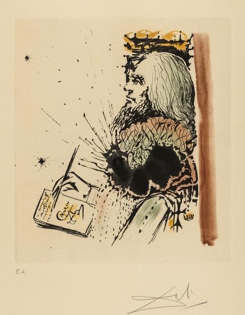 Salvador Dalí, 'Portrait de Calderón (M & L 515a; Field 73-1-D)', 1971, Print, Etching with aquatint printed in colours, Forum Auctions