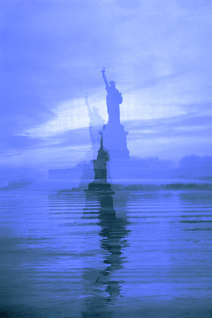 , 'Blue Lady Liberty,' 2015, Galleri Bo Bjerggaard