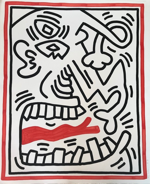 Keith Haring, 'Untitled (Red Tongue)', 1985, Georgetown Frame Shoppe