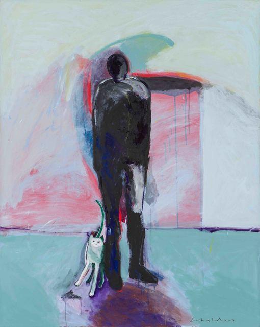Fritz Scholder, 'Man + Cat #1', 1992, Larsen Gallery