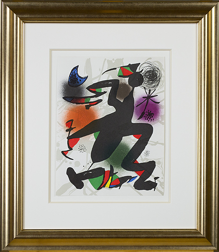 ", 'Original Lithograph IV from ""Miro Lithographs III, Maeght Publisher"",' 1977, David Barnett Gallery"