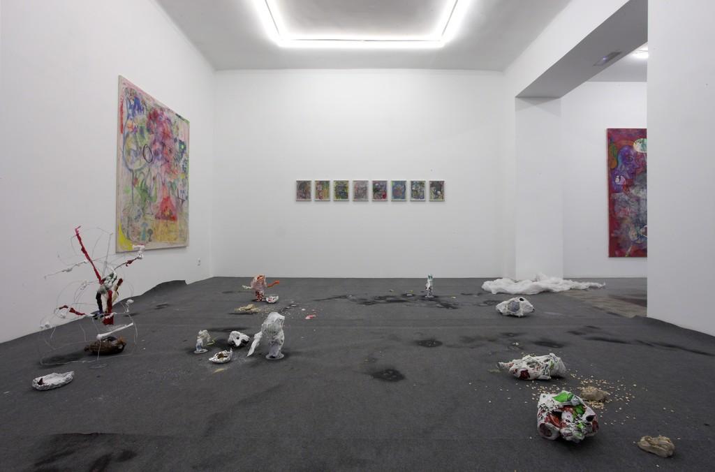 Max Brand. Installation view at Galería Marta Cervera 2016