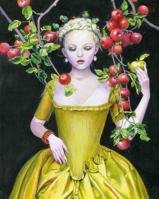 Titti Garelli, 'The Golden Apple', 2019, Painting, Acrylic on canvas, Saphira & Ventura Gallery