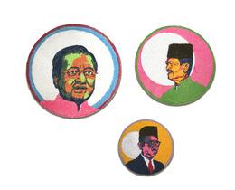 , 'Kolam I (Mahathir),Kolam II (Badawi),Kolam III (The Tunku),' 2013, Wei-Ling Gallery