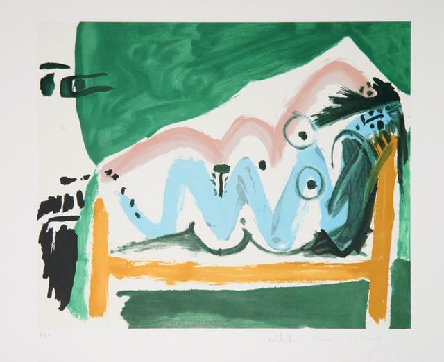 Pablo Picasso, 'Ne Allongée et Tête d'Homme de Profil, 1965', 1979-1982, Print, Lithograph on Arches paper, RoGallery