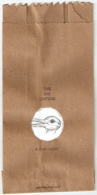 , 'this bag contains a duck - rabbit,' 2013, Project 88