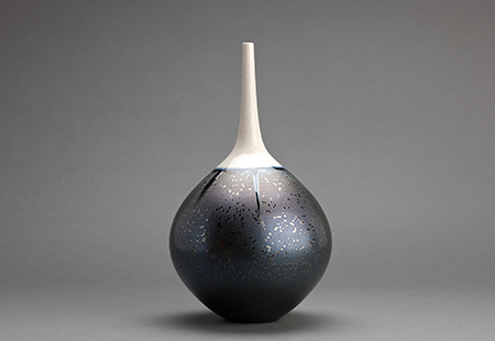 , 'Teardrop vase, triangle crystalline glaze with snow cap,' , Pucker Gallery