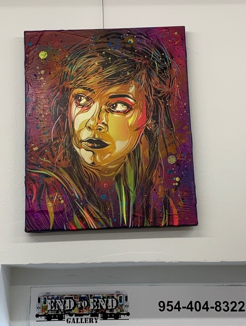 C215, 'Brick Lane ', 2019, Painting, Spray Paint, Stencil and Acrylic on Canvas, End to End Gallery