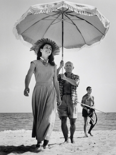 Robert Capa, 'Pablo Picasso & Francoise Gilot, Golfe-Juan, France, August, 1948', 1948, Etherton Gallery