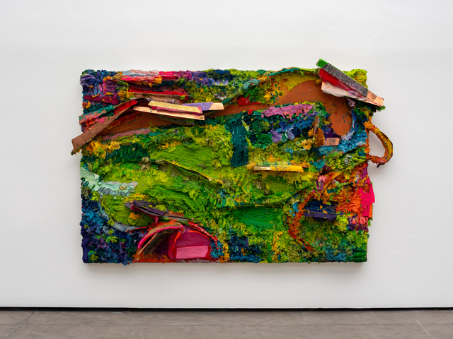 Nuno Ramos, 'Sol a pino 01', 2018, Painting, Encaustic, oil, cloth, plastic and metal on wood, Fortes D'Aloia & Gabriel