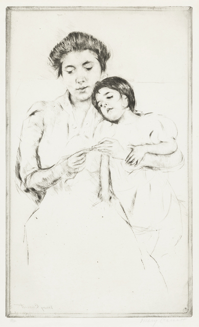 Mary Cassatt, 'The Crocheting Lesson', 1902, Christopher-Clark Fine Art