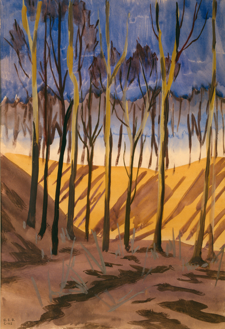 , 'Trees and Ravine,' ca. 1917, DC Moore Gallery