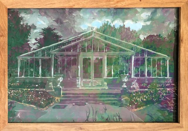 Isabella Kuijers, ' Kew I', 2019, Painting, Acrylic on glass, 99 Loop Gallery