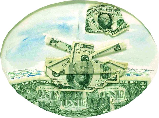 , 'Sea of Money,' 2005, Rosamund Felsen Gallery