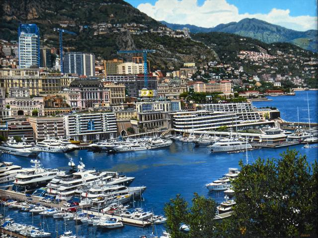 , 'Monaco Port Hercule View from the Palace,' 2017, Louis K. Meisel Gallery