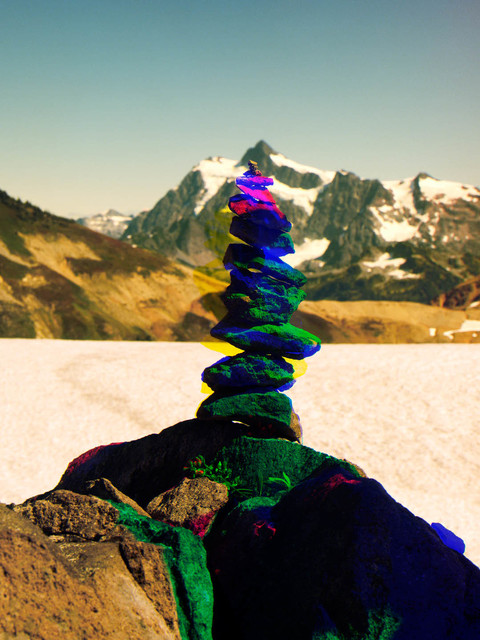, 'Variation of Cairn on Ptarmigan Ridge with Mt. Shuksan in Background, A,' 2014, V1 Gallery