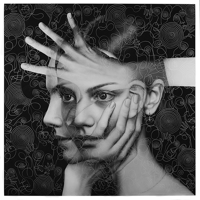 TIGRAN TSITOGHDZYAN, 'Mirror Metamorphosis II Reimagined', 2019, Drawing, Collage or other Work on Paper, Drawing on print of original painting, FREMIN GALLERY