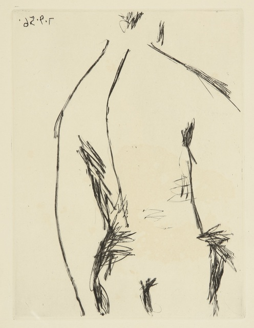 Pablo Picasso, 'Dos d'homme (B. 803; Ba. 959)', 1956, Print, Drypoint, Sotheby's