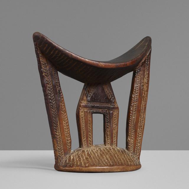 'Headrest', Design/Decorative Art, Carved wood, Rago/Wright