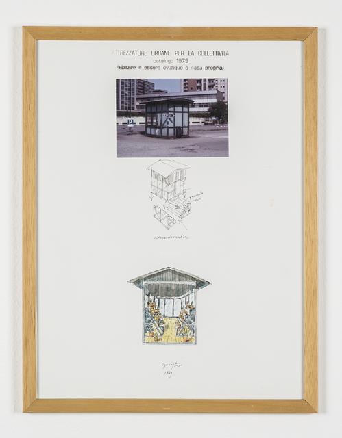 """Ugo La Pietra, 'Serie """"Attrezzature urbane per la collettività"""" - Serra domestica', 1979, Galleria Bianconi"""