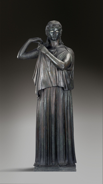 , 'Woman fastening her peplos,' , Montreal Museum of Fine Arts