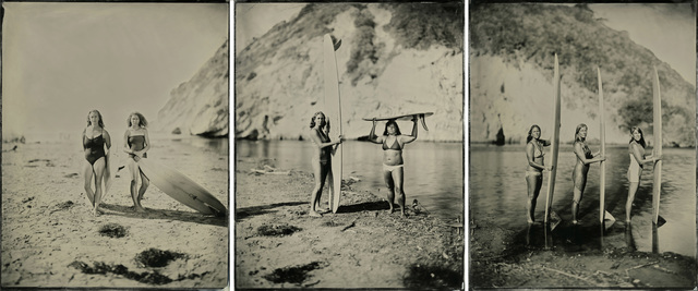 , '15.11.07 #5-6-7 The Women and the Waves, Triptych (Santa Barbara, CA),' 2015, Von Lintel Gallery