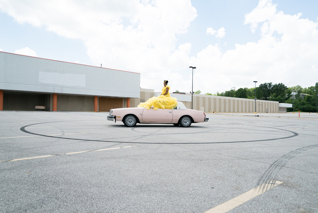 , 'Sit Still (Sitting on Car),' 2017, projects+gallery