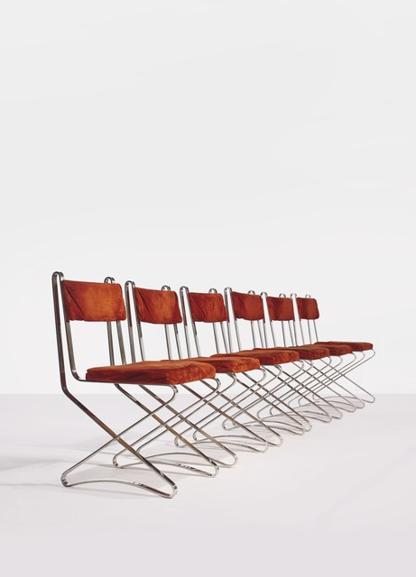 , 'Suite of Six Chaise X Chairs,' ca. 1968, Demisch Danant